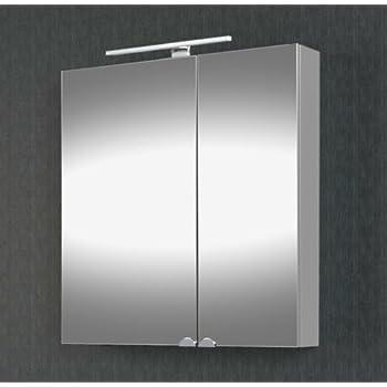 Planetmöbel Spiegelschrank Badezimmer mit LED Beleuchtung 60 cm ...