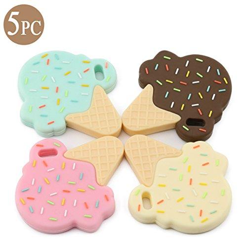 Best for baby Jouet de dentition en silicone pour bébé Montessori Toys Cadeaux De douche Sans BPA Accessoires D'allaitement Crème glacée Sucettes