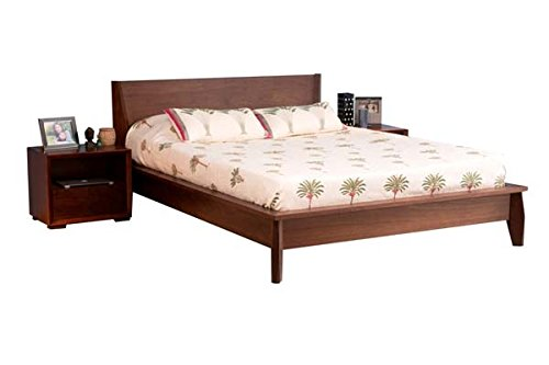 Forzza Alpha Queen Size Bed (Matt Finish, Walnut)