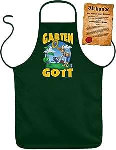 Tablier blouse tablier de jardin pour jardinier-motif :  garten gott-avec certificat.