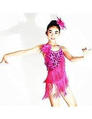 DESY Echarpe de Danse du Ventre(Vert pomme / Rose,Elasthanne / Polyester / Paillété,Danse latine)Danse latine- pourFemme / Enfant , ma