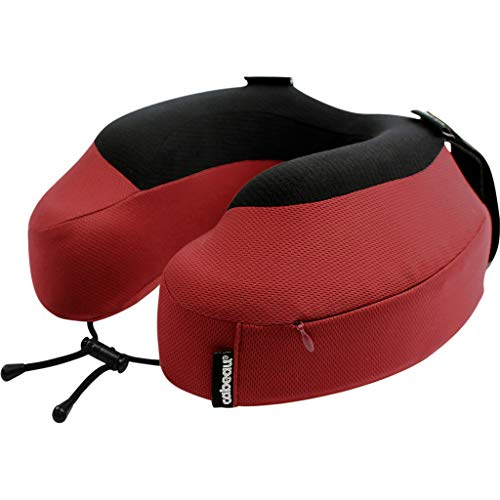 Cabeau Evolution S3 Travel Neck Pillow - Straps to Airplane Seat - Ensures Your Head Won't Fall Forward - Quick Dry Fabric - Backed by Sleep Science for Best Support (Cardinal Red)