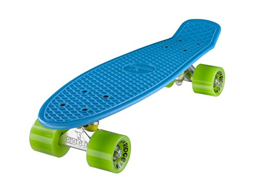 Ridge Skateboard Mini Cruiser, blau-grün, 22 Zoll, R22