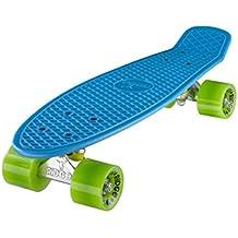 Ridge Retro 22 - Skateboard, color azul cielo y verde, 55 cm (22'')