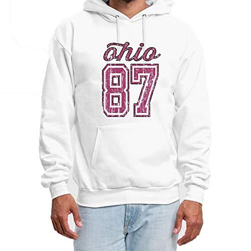 SHENMAHU Men s Cotton Hoodies Cool Word QHIQ 87 Logo Long Sleeve Casual  Pullover Hooded Sweatshirt XXL 93530952dc