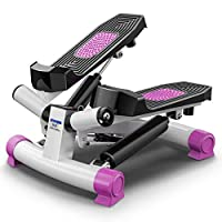 Training Equipment Mini Fitness Stepper Aerobic 2in1 Up-Down-Stepper With Power Ropes For Home Fitness Maximum Load: 150kg LULALAY