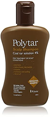 Polytar Liquid Concentrated Antiseptic Tar Medicated Scalp Cleanser Shampoo 150 ml (Pack of 2)