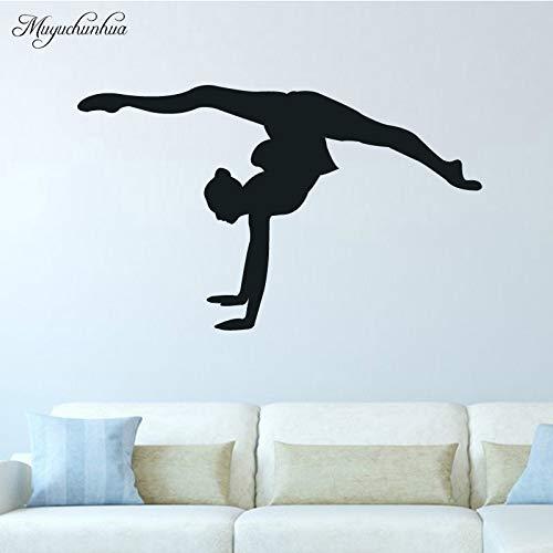 yiyiyaya Tänzerin Heimtextilien Dekorative Wandaufkleber Home Decora Wohnzimmer DIY Wandkunst Aufkleber 94X56 cm