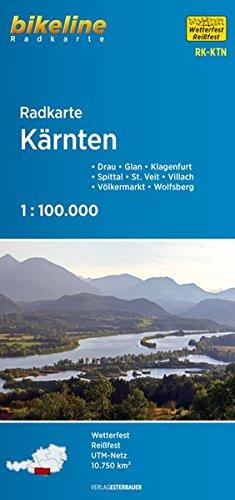 Kärnten: Drau – Glan – Klagenfurt – Spittal – St. Veit – Villach – Völkermarkt – Wolfsberg (Bikeline Radkarte)