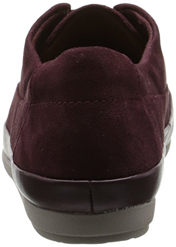 Clarks Lorry Grâce plat Burgundy Suede/Leather