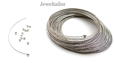 Jeweltailor 20 Shiny Stainless Steel Memory Wire Half Drilled End Caps/Stoppers 3mm ~ Jewellery Making