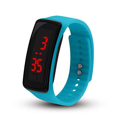 Reloj de Pulsera de Silicona LED Deportivo Digital Resistente al Agua para niños y niñas, Hombres...