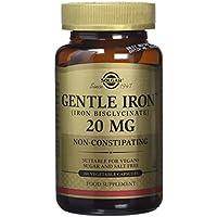 Solgar Gentle Iron - Iron Bisglycinate - 180 x 20mg Vegicaps