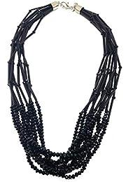 6132ce7f2a4f Amazon.es  hilo negro - Collares   Mujer  Joyería