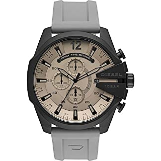 Diesel Mega Chief Analog Grey Dial Men's Watch-DZ4496