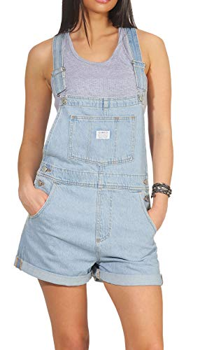 Levi´s ® Damen Rock Kleid SHORTKLEID Vintage Shortall Short & Sweet L - Button-fly Baumwolle Rock