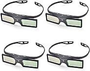 PERGEAR 4xG15-DLP 144Hz 3D DLP-LINK Active Glasses For Optoma/BenQ/Acer/ LG Projector