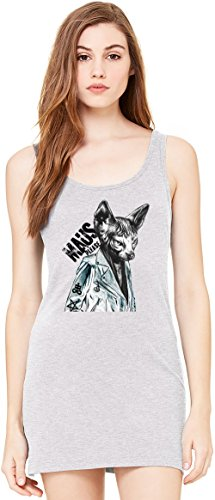 Maus Please Sphynx Cat Bella Basic ärmellose Tunika Sleeveless Tunic Tank Dress For Women| 100% Premium Cotton| X-Large