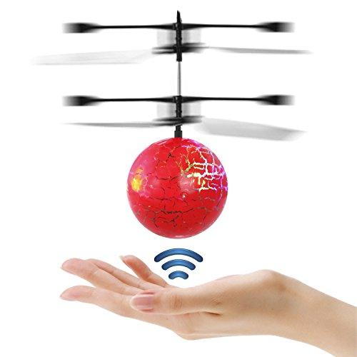 Etpark RC Toy vol Ball RC infrarouge Hélicoptère à induction Boule intégrée lumineux d'éclairage LED pour les enfants, les adolescents Flyings colorés jouets