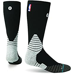 Calcetines Stance NBA Solid Crew Color Negro mainapps, Hombre, negro, Large