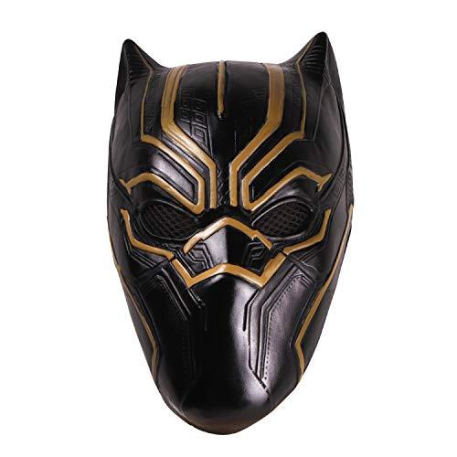 Panther Kostüm Erwachsene Für - hcoser Black Panther Maske Helm perfekt für Karneval & Halloween Kostüm Latex Erwachsene