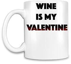 Idea Regalo - Wine is my Valentine Tazzina da caffè