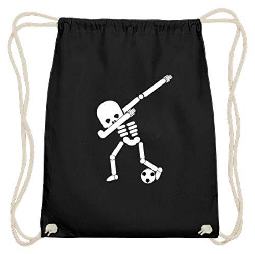 Dabbing Skelett Fußball Spielen Spieler WM Halloween Dab - Schlichtes Und Witziges Design - Baumwoll Gymsac (Fußball-spieler Halloween Für)