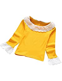 Moda bebé ninas blusa OverDose cordones rizados camisetas para el otoño y invierno ...