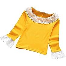OverDose Moda bebé Ninas Blusa Cordones rizados Camisetas para el otoño y Invierno ...