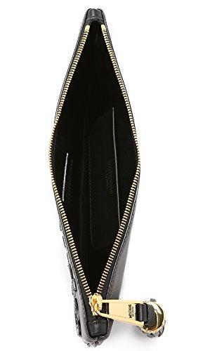 840180010555 Moschino Pochette de soirée Femme Cuir Noir Noir