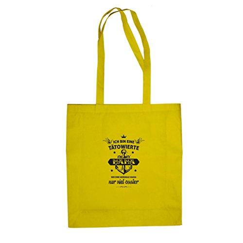 Tätowierte Mama - Stofftasche / Beutel Gelb