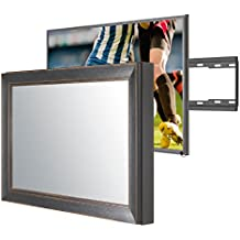 Handmade Framed Mirror TV with Samsung UE32M5520 to Blend This Hidden Mirrored Television into Your Home or Business Decor (32 Inch, NY Black Orange)