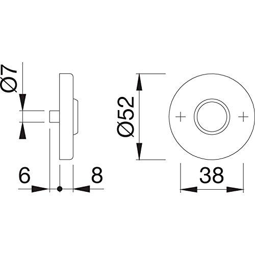 HOPPE Drücker-Rosette ø 52 mm | Edelstahl matt | Ersatz-Rosette | 1 Paar - 2