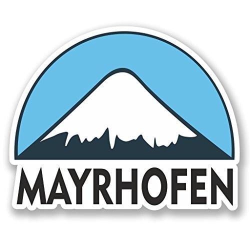 Preisvergleich Produktbild 2x Mayrhofen Ski Snowboard Vinyl Aufkleber Aufkleber Laptop Reise Gepäck Auto Ipad Schild Fun # 5290 - 10cm/100mm Wide