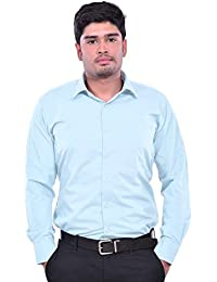 Shirt Rajvila Solid Color Semi Cotton Formal Mens Wear Shirt