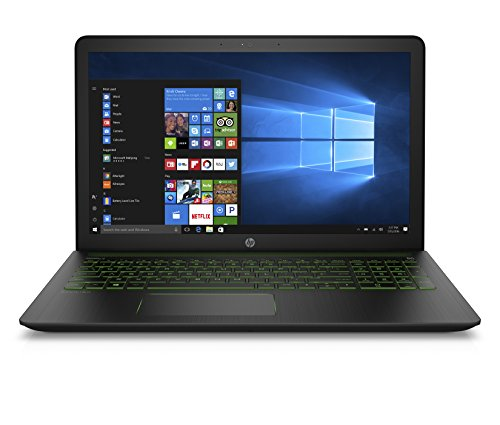 "HP Pavilion Power 15-cb032ns - Ordenador portátil de 15.6"" Full HD (Intel Core i7-7700HQ, 8 GB RAM, 1 TB HDD, Nvidia GeForce GTX 1050 2 GB, Sin Sistema Operativo-FreeDOS 2.0); Negro y Verde - teclado QWERTY Español"