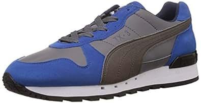 Puma Men's TX-3 Charcoal Grey, Blue and Steel Grey Running Shoes - 7 UK/India (40.5 EU)