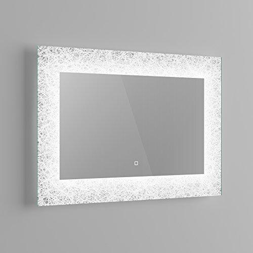 soak Specchio di Design per Bagno con Illuminazione a LED, Sensore Luce e Antiappannamento, 900 x 600 mm - 4
