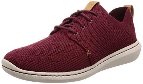 Clarks Step Urban Mix, Zapatillas para Hombre, Rojo (Burgundy-), 44 EU