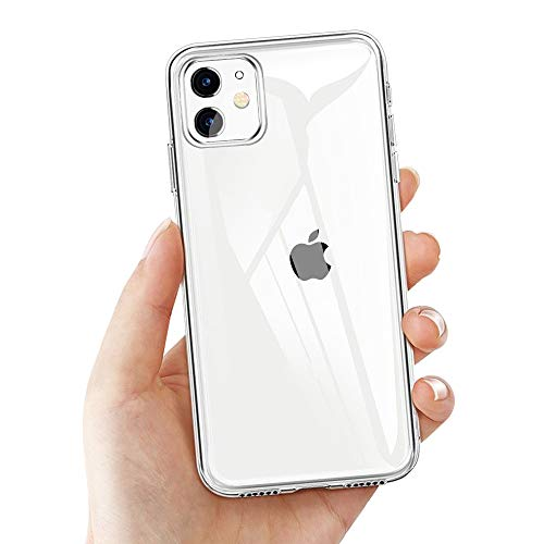 Laxikoo custodia iphone 11, cover iphone 11 trasparente tpu morbido silicone iphone 11 bumper cover [anti-graffio] [antiurto] custodia trasparente protettiva case per iphone 11-6.1 pollici