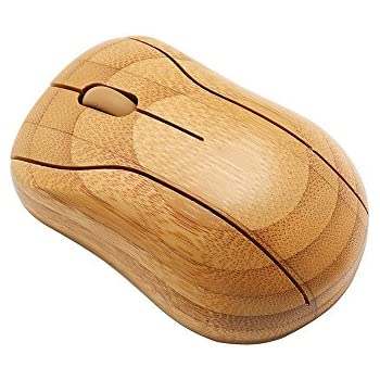 Sengu SG-MG95-N 2.4GHz Bamboo Wireless Optical Mouse Healthy Sweat-resistant Anti-radiation Wireless Mouse