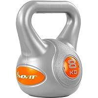 MOVIT Kettlebell mit bodenschonender Kunststoffummantelung, 9 Varianten: 2 kg bis 20 kg, schadstoffgeprüft, Schwunghantel Kugelhantel Kugelgewicht