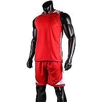 Lixada Basketball Shirt Uniformes Set Sans Manches Vêtements de sport respirant Ball Jersey Basketball Sweat T-shirt pour les hommes