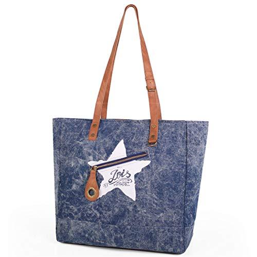 Lois - Bolso de Mujer Tipo Shopping con Doble Asa. Cierre Cremallera. Lona Denim. Ideal para Compras...