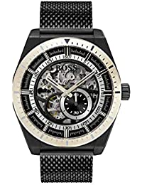 11353090219 Hugo Boss Watch Mens Skeleton Automatic Watch with Stainless Steel Strap  1513655
