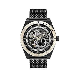 Hugo BOSS Reloj Esqueleto para Hombre de Automático con Correa en Acero