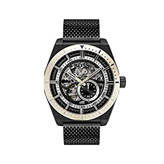 Hugo Boss Reloj Esqueleto para Hombre de Automático con Correa en Acero Inoxidable 1513655