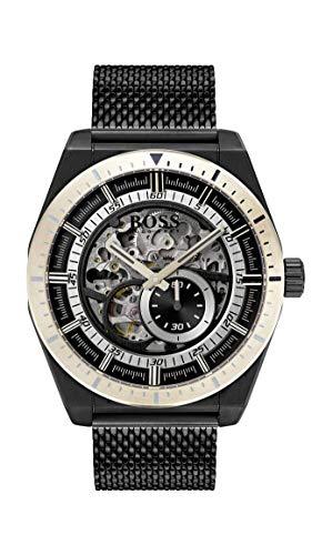 Hugo Boss Watch Herren Skeleton Automatik Uhr mit Edelstahl Armband 1513655