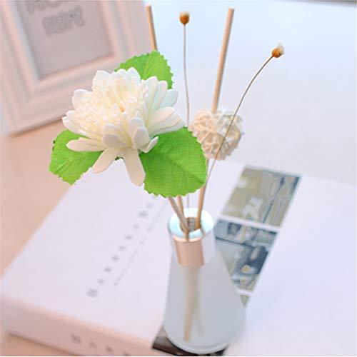 Gaddrt 13 fragranze disponibili diffusori di olio di canna con bastoncini naturali, bottiglia di vetro e olio profumato 50ml (i)