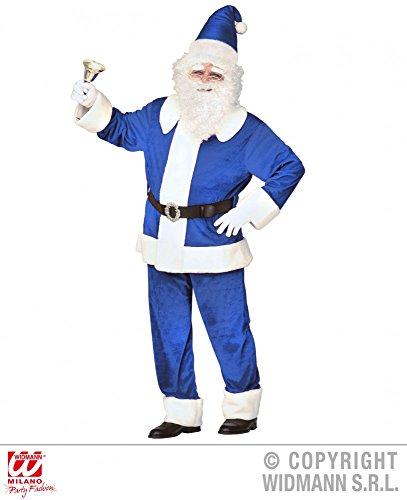 n-Kostüm Blauer Luxus Weihnachtsmann Gr. XL Santa Claus Klaus Nikolaus ()